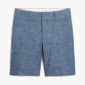 J. CREW 9″ frankie bermuda chambray shorts AK8